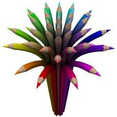 Сolor circle composed of pencil — Stock Photo