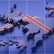 Pixelated map United Kingdom. — Stock Photo