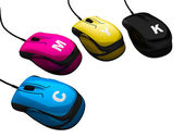 Kontrola koloru cmyk myszy — Zdjęcie stockowe