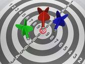 Målet med dart — Stockfoto
