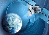 Televisão por satélite — Fotografia Stock