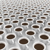 It is a lot of cups of coffee — Stock Photo