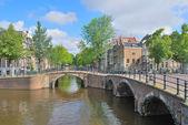 Amsterdam. kanalen keizersgraht en regulirsgraht — Stockfoto