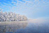 Finland. Imatra reservoir in winter — Stock Photo