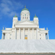 Stock Photo: Helsinki Cathedral in winter