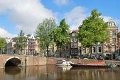 Amsterdam. Channel Keizersgracht — Stock Photo