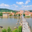 View of Prague from  the Old Town Tower - Stock Photo