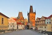 Prague at dawn — Stock Photo