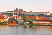 Prague Castle at sunrise — Stock Photo