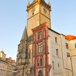 Prague. Old Town Hall at dawn - Stock Photo