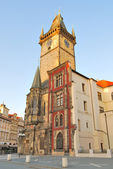 Prague. Old Town Hall at dawn — 图库照片