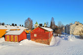 Lappeenranta, Finland. Historic buildings in the fortress Linnoitus — Stock Photo