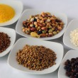 Stock Photo: Beans, rice, buckwheat, lentils, maize, coffee