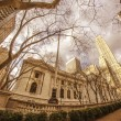 New York Public Library and Surrounding Skyscrapers - Stock Photo