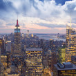 Stock Photo: Amazing view to New York Manhatt- New York City