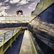 cruiseschip, detail — Stockfoto