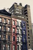 Urbanos rascacielos en manhattan, nueva york — Foto de Stock