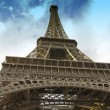 View of Eiffel Tower in Paris — Stock Photo