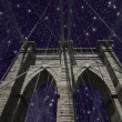 Stock Photo: Sky over Brooklyn Bridge