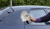 Making Money Selling Cars — Stock Photo