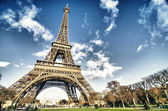 Colors of Eiffel Tower in Paris — Stock Photo