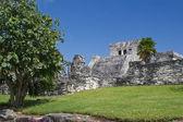 знаменитые археологические руины тулума в мексике — Стоковое фото