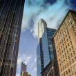 Stockfoto: Upward view of New York City Skyscrapers