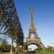 Stock Photo: Eiffel Tower on Winter Morning