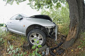 Car against a Tree, Italy — Stock Photo