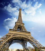 Eiffel Tower on a Winter Morning — Stock Photo