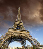 Stormy Weather over Eiffel Tower — Stock Photo