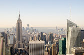 Urban skyscrapers, New York City skyline. Manhattan — Stock Photo