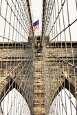 Architectural Detail of Brooklyn Bridge in New York City — Fotografia Stock