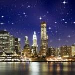 Night Colors over Brooklyn Bridge — Stock Photo