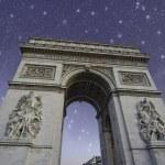 ������, ������: Starry Night over Arc de Triomphe in Paris