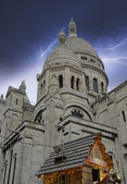 Stormy Sky over Sacre Coeur Cathedral in Paris — Stock Photo