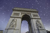 Starry Night over Arc de Triomphe in Paris — Stock Photo