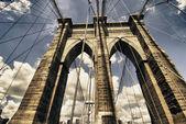 Brooklyn Bridge view, New York City — Stock Photo