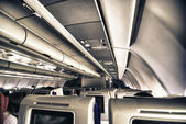 Airplane Interior, Italy — Stock Photo