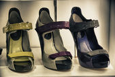 Schoenen in een winkel van toronto, canada — Stockfoto