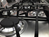 Modern Stove detail in a Kitchen — Stock Photo