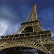 View of Eiffel Tower from Below, Paris — Stock Photo