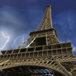Stock Photo: View of Eiffel Tower from Below, Paris