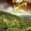 Stock Photo: Sky over TuscCountryside in Casoli