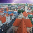 Storm approaching Munich, Germany - Stock Photo