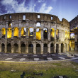 Colors of Colosseum at Sunset in Rome — Stock Photo #9715381