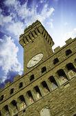 Dół góra widok placu piazza della signoria we florencji — Zdjęcie stockowe