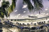 Kolory beach grand turk — Zdjęcie stockowe