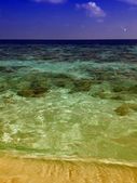 Colors of Maldives Waters — Stock Photo