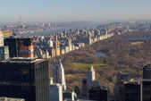 Tilt Shift view of Central Park in Winter — Stok fotoğraf